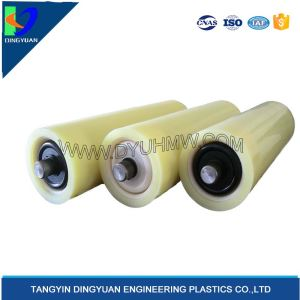 White conveyor belt idler roller