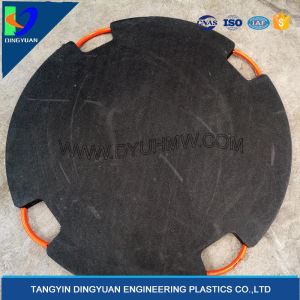Round outrigger pads for mobile crane